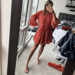 Free people red striped dress- still in stores!